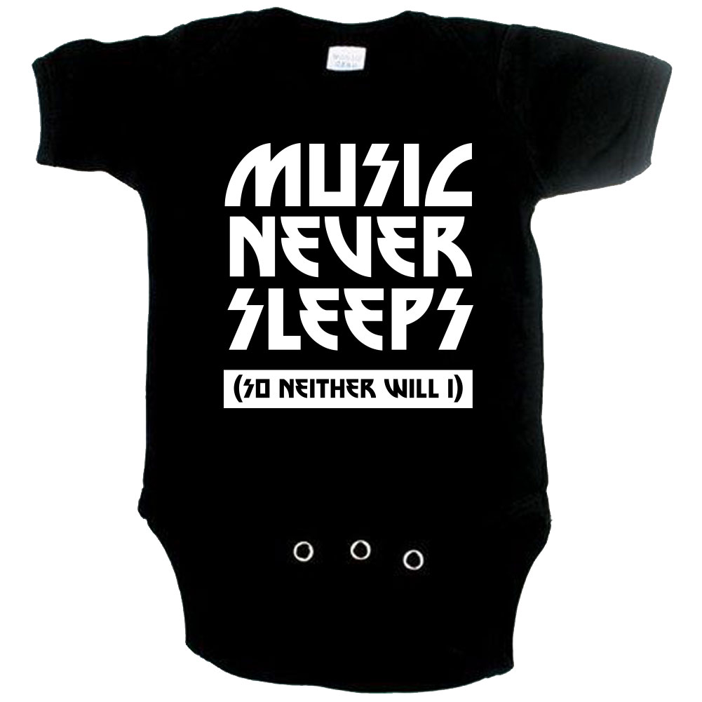 Music Never Sleeps print - Cool Baby Clothes